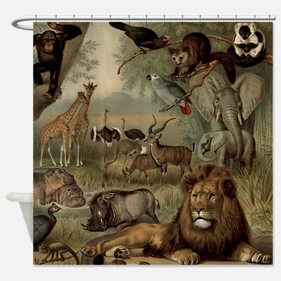 The Vintage Jungle Shower Curtain