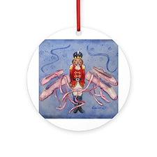 The Nutcracker & Ballet Slippers Ornament (Round)