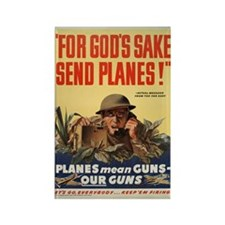 WWII POSTER FOR GODS SAKE SEND PLANES Rectangle Ma