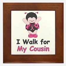 Walk For Cousin Framed Tile