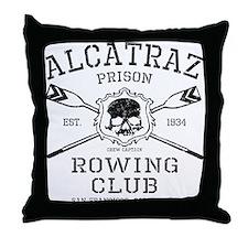 Alcatraz Rowing club Throw Pillow