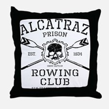 Alcatraz Rowing club Throw Pillow