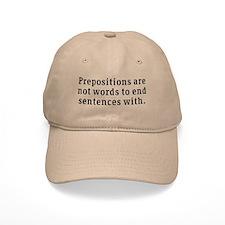 Prepositions Baseball Cap