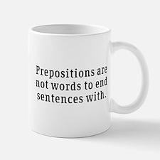 Prepositions Mug
