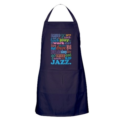Jazz Music Quote Apron (dark)