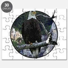 Bald Eagle in cliffs Puzzle
