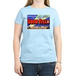 Drew Field Tampa Florida (Front) Women's Pink T-Sh