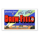 Drew Field Tampa Florida Rectangle Sticker