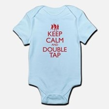 Keep Calm and Double Tap Infant Bodysuit
