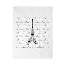Paris Eiffel Tower Love Black and White Script Twi