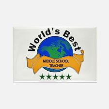 Cute World%27s hottest middle school teacher Rectangle Magnet