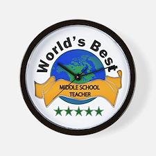 Cute World%27s hottest middle school teacher Wall Clock