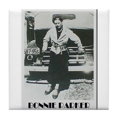 Bonnie Parker Tile Coaster