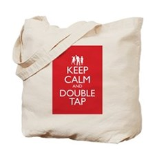 Keep Calm and Double Tap Tote Bag