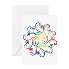 Cosmic Peace Love Greeting Card