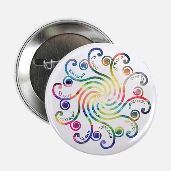 """Cosmic Peace Love 2.25"""" Button"""