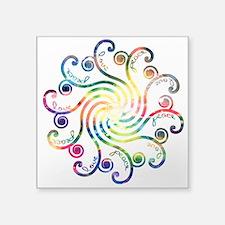 """Cosmic Peace Love Square Sticker 3"""" x 3"""""""