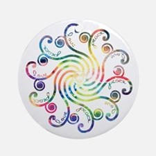 Cosmic Peace Love Ornament (Round)