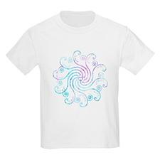 Electric Blue Peace Love T-Shirt