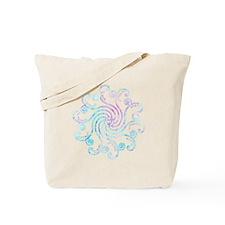 Electric Blue Peace Love Tote Bag
