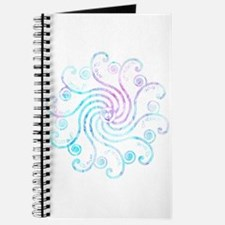 Electric Blue Peace Love Journal