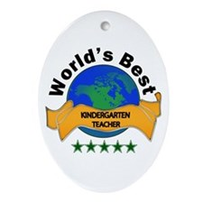 5 star teacher Ornament (Oval)