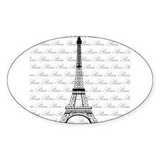 Paris Background Eiffel Tower Decal