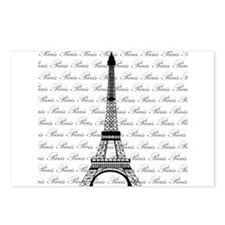 Paris Background Eiffel Tower Postcards (Package o
