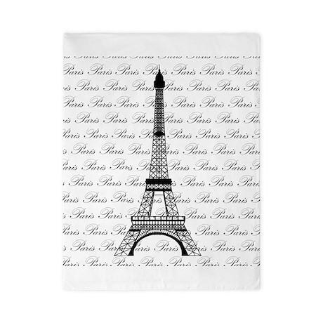 Paris Background Eiffel Tower Twin Duvet