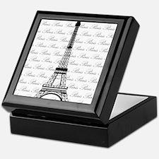 Paris Background Eiffel Tower Keepsake Box