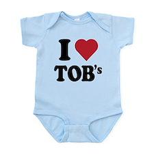 I Heart TOB's (tig ole bitties) Infant Bodysuit