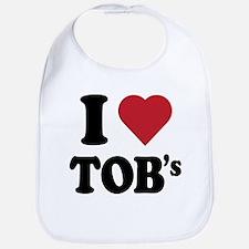 I Heart TOB's (tig ole bitties) Bib