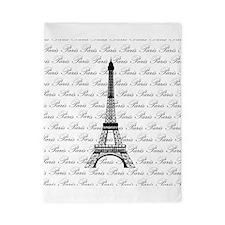 Paris Eiffel Tower in Black Twin Duvet