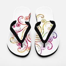 Sweet Peace Love Flip Flops