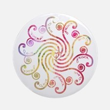 Sweet Peace Love Ornament (Round)