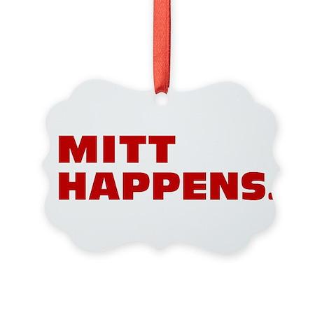 Mitt Happens Picture Ornament