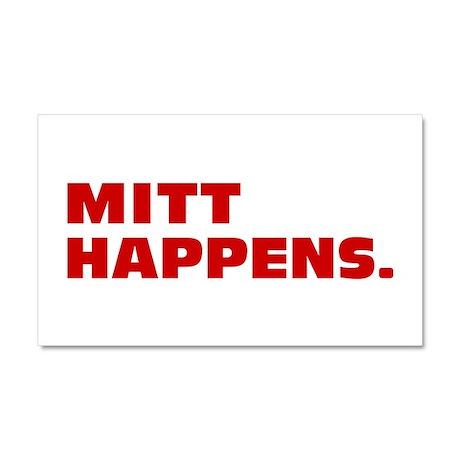 Mitt Happens Car Magnet 20 x 12