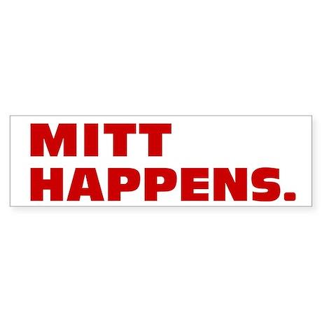 Mitt Happens Sticker (Bumper 10 pk)