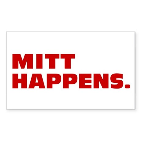 Mitt Happens Sticker (Rectangle)