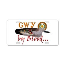 Cherokee by Blood Aluminum License Plate
