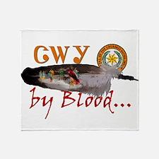Cherokee by Blood Throw Blanket