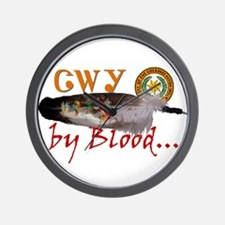 Cherokee by Blood Wall Clock