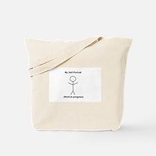 Funny Self-Portrait Tote Bag