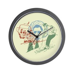 Retro Ski Graphic Wall Clock