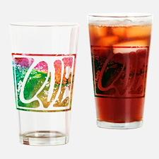 Groovy Hippie Love Drinking Glass