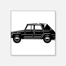 "Military Car 2 Square Sticker 3"" x 3"""