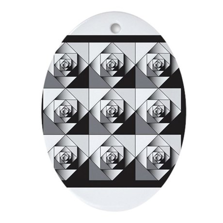 Geo Rose Ornament (Oval)