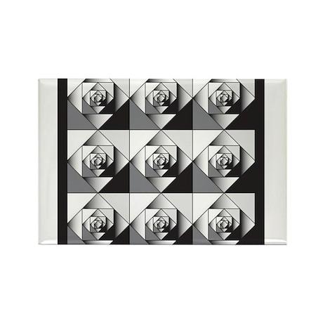 Geo Rose Rectangle Magnet