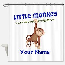 Monkey Boy Kids Personalized Shower Curtain