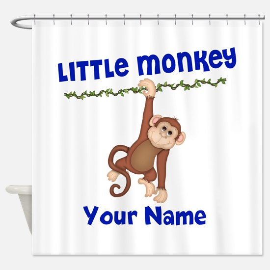 Monkey Boy Kids Personalized Shower Curtain